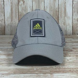 Adidas Gray Green Patch Logo Fitted Baseball Cap